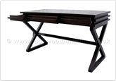 "Chinese Furniture - ffbwdesk -  Black Wood Desk With 3 Drawers - 58"" x 26"" x 31"""