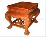 "Chinese Furniture - ffbwent -  Curved legs end table w/full carved - 23.5"" x 23.5"" x 27"""