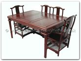 "Rosewood Furniture - ffbwm62din -  Black wood sq ming style dining table with 2+4 chairs - 62"" x 44"" x 30"""