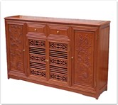 "Chinese Furniture - ffccffd -  Shoes cabinet full f and b design w/2 drawers  and  4 doors - 64"" x 16"" x 37"""