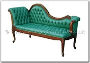 "Chinese Furniture - ffchaise1 -  Chaise longue with buttoned fabric covering - 72"" x 26"" x 39"""