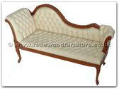 "Rosewood Furniture - ffchaise3 -  Chaise longue with buttoned leather covering - 72"" x 26"" x 39"""