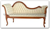 "Rosewood Furniture - ffchaise4 -  Chaise longue with buttoned leather covering - 72"" x 26"" x 39"""