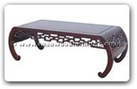 "Oriental Furniture - ffckcoffee -  Curved style coffee table key design - 50"" x 20"" x 16"""