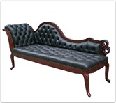 "Chinese Furniture - ffclbfc -  Chaise longue w/buttoned fabric covering  - 72"" x 26"" x 39"""