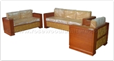 "Rosewood Furniture - ffclbsofa -  Bench w/closed legs  and  fabric back - 83"" x 30"" x 24"""