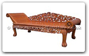"Rosewood Furniture - ffcldd -  Chaise longue dragon design - 89"" x 29.5"" x 29.5"""