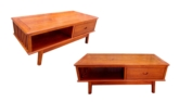 "Oriental Furniture - ffcofpdo -  coffee table plain design w/1 drawer & 1 open section - 57.5"" x 27"" x 22"""