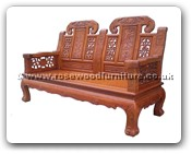 "Chinese Furniture - ffcujx2sf -  Curved legs 2 seaters sofa ji-xiang design - 62"" x 24.5"" x 43"""