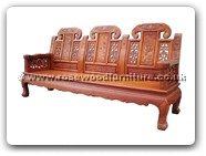 "Chinese Furniture - ffcujx3sf -  Curved legs 3 seaters sofa ji-xiang design - 33"" x 24.5"" x 43"""