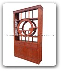 "Chinese Furniture - ffcurcfc -  Curio cabinet full carved with 2 doors and 2 drawers - 54"" x 15"" x 93.5"""