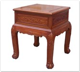 "Rosewood Furniture - ffcurietb -  Curved legs end table ru-yi design  - 24"" x 24"" x 27"""