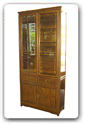 "Rosewood Furniture - ffcwmbcase -  Chicken wing wood ming style bookcase with 2 drawers and 4 doors - 36"" x 14"" x 78"""