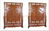 "Rosewood Furniture - ffdfs -  Double-face screen flower and bird  design - open dragon carved apron - 65.6"" x 15"" x 85"""