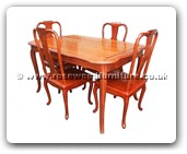 "Rosewood Furniture - ffdinf -  Round corner dining table french design with 4 chair - 53"" x 36"" x 31"""