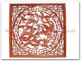 "Rosewood Furniture - ffdpscreen -  Screen dragon  and  phoenix design - 55"" x 55"" x 1"""