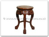 "Rosewood Furniture - ffdptstool -  Stool dragon  and  phoenix design tiger legs - 13"" x 13"" x 19"""