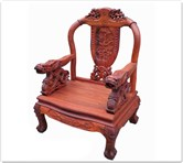 "Rosewood Furniture - ffdsfcha -  Sofa arm chair dragon design - 29"" x 24"" x 43"""