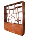 "Chinese Furniture - ffdufbct -  Display unit flower and bird design with curio top - 92"" x 15"" x 107"""