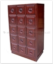 "Rosewood Furniture - ffel15cd -  C.d. cabinet - 15 drawers longlife design - 26"" x 16"" x 45"""