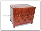 "Rosewood Furniture - ffel6cd -  C.d. cabinet with 6 drawers longlife design - 26"" x 14"" x 20"""