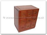 "Rosewood Furniture - ffel9cd -  C.d.cabinet with 9 drawers longlife design - 24"" x 16"" x 28"""