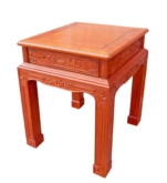 "Chinese Furniture - ffendfc -  end table w/full carved - 23.5"" x 23.5"" x 32"""