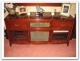 "Rosewood Furniture - ffexample -  Surround sound entertainment centre with dvd drawers ith  glass fronted - 0"" x 0"" x 0"""