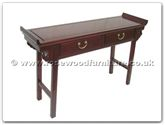 "Chinese Furniture - ffep2dalt -  Hall table with 2 drawers plain design - 48"" x 14"" x 30"""