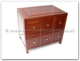 "Rosewood Furniture - ffep6cd -  C.d. cabinet with 6 drawers plain design - 24"" x 16"" x 20"""
