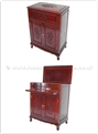 "Rosewood Furniture - ffeqbmbar -  Queen ann legs mini bar f and b design  - 26"" x 16"" x 36"""