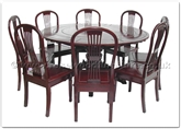 "Rosewood Furniture - ffer60ac -  Extendable Round Dining Table With 8 American Style Chairs  - 60"" x 60"" x 30"""