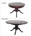 "Rosewood Furniture - ffer60splo -  Extendable Round Dining Table With Special Pedestal Leg - 60"" x 60"" x 30"""