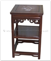 "Chinese Furniture - fff31a2end -  End table mother of pearl inlay - 18"" x 18"" x 30"""