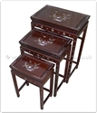 "Chinese Furniture - fff31a3nest -  Nest table - mother of pearl inlay - 20"" x 14"" x 26"""