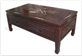 "Chinese Furniture - fff31a5cof -  Coffee table w/2 drawers longlife design w/m.o.p. - 40"" x 20"" x 16"""