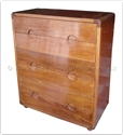 "Oriental Furniture Range - ORffff8001r -  Redwood chest of 7 drawers - 39.5"" x 20"" x 47"""