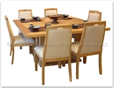 "Rosewood Furniture - ffff8006a -  Ashwood sq dining table - 6 fabric chairs - 55"" x 55"" x 30"""