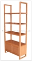 "Chinese Furniture Range- CHffff8009a -  Ashwood bookcase - 2 doors - 31.5"" x 14"" x 71"""