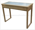 "Chinese Furniture - ffff8015a -  Ashwood glass top dressing table - 2 drawers - 42"" x 18"" x 31"""