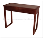 "Chinese Furniture - ffff8015r -  Redwood glass top dressing table - 2 drawers - 42"" x 18"" x 31"""