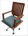 "Oriental Furniture - ffff8021r -  Redwood revolving executive office chair - 25"" x 22"" x 41.5"""