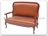 "Oriental Furniture Range - ORfffl2sofa -  Love Seat - leather sofa french design - 52"" x 24"" x 41"""