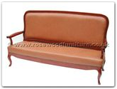 "Rosewood Furniture - fffl3sofa -  Leather bench french design - 74"" x 24"" x 41"""