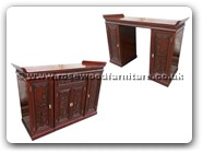 "Chinese Furniture - fffyaltdlml -  Altar cabinet dlmch-mlzj carved with 1 drawer and 4 doors - 60"" x 18.5"" x 40.5"""