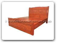 "Rosewood Furniture - fffybed4d -  King size bed full carved with 4 drawers - 72"" x 78"" x 0"""
