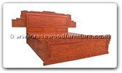 "Oriental Furniture - fffybedf4d -  King size bed full carved with 4 drawers extended - 72"" x 78"" x 0"""