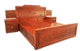 "Chinese Furniture - fffybedfc -  bed full carved w/4 drawers - 77"" x 85"" x 0"""