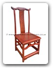 "Oriental Furniture - fffychairm -  Ming chair w/f&b carved on back - 18"" x 17"" x 40"""