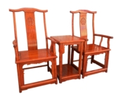 "Oriental Furniture - fffychamcc -  ming chair w/carved on backset of 3> - 23"" x 19"" x 47"""